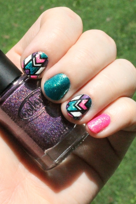 Geometric Stamped Nail Decals