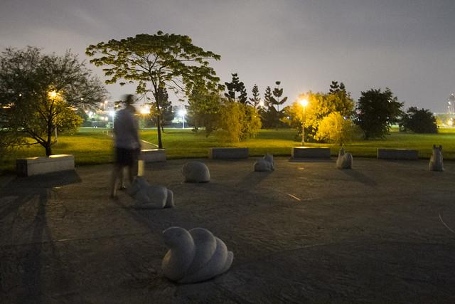 Chinese zodiac statue park