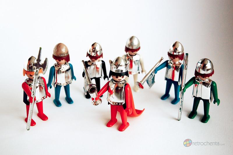 Famobil - rey y soldados medievales