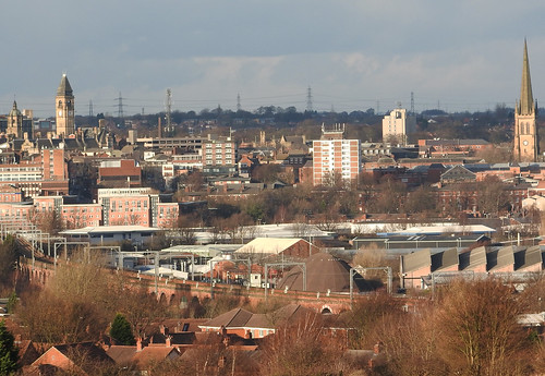 View of Wakefield from Sandal Castle