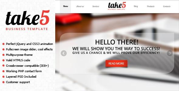 ThemeForest Take5 v1.0 – is a premium multipurpose template