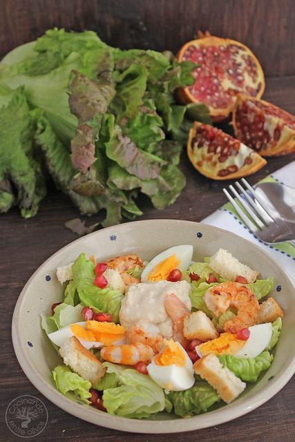 Ensalada Cesar con langostinos www.cocinandoentreolivos.com (23)