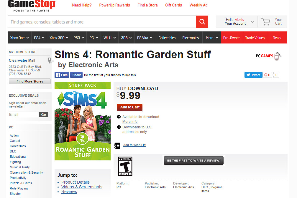 romantic gamestop