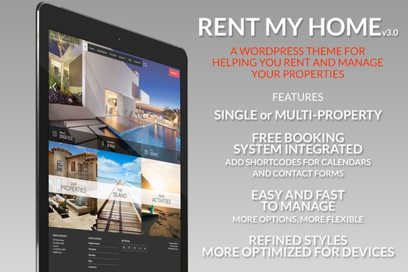 Creativemarket Rent My Home v2.0 – Vacation Rental Booking