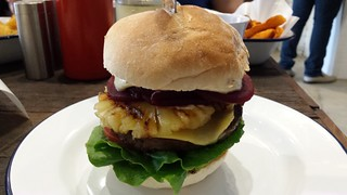 Cheese Burger with Pineapple and Beetroot from Soul Burger