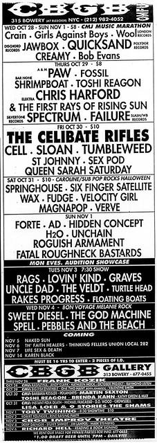 10/28/92 - 11/14/92 CBGB