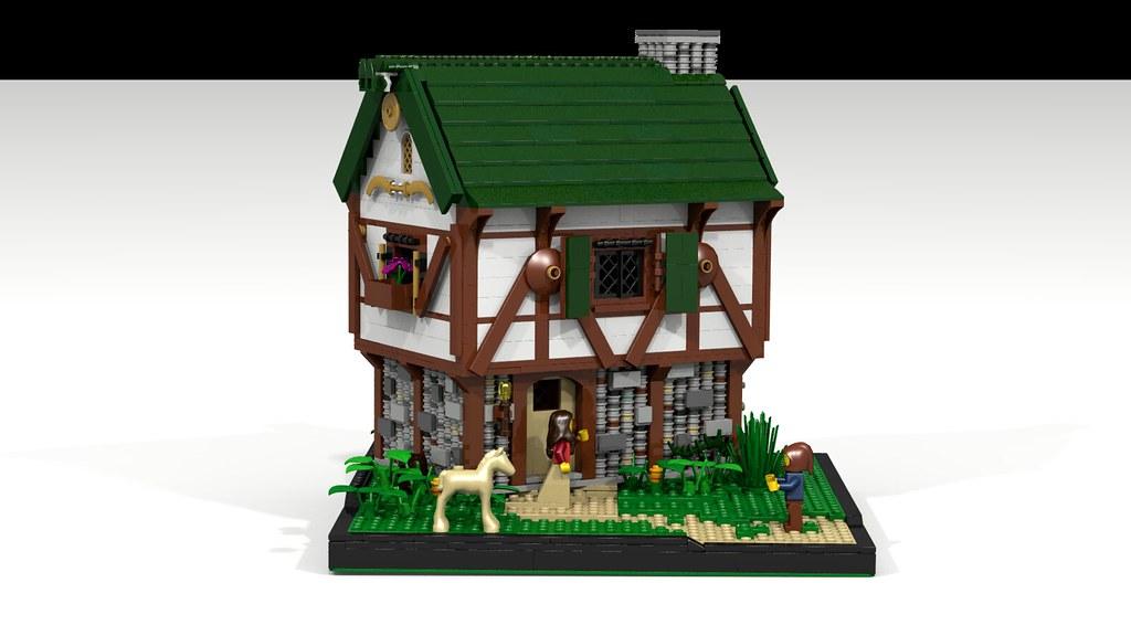 Lego Medieval House ldd moc] medieval cottage - lego historic themes - eurobricks forums