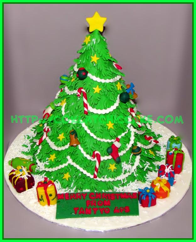 Cake Pohon Natal