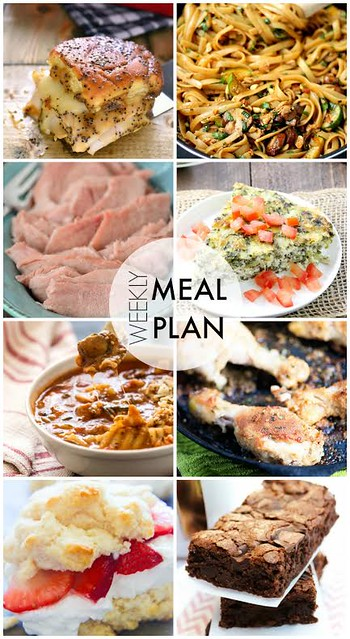 Week 37. Collaborative weekly meal planning. 9 bloggers. 6 dinner ideas, one-weekend breakfast plus 2 desserts every single week equals one heck of a delicious menu!