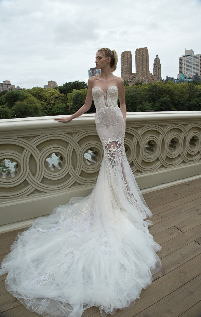 Inbal Dror 2016 Wedding Dresses - Ivory Mermaid sleeves wedding dress | itakeyou.co.uk