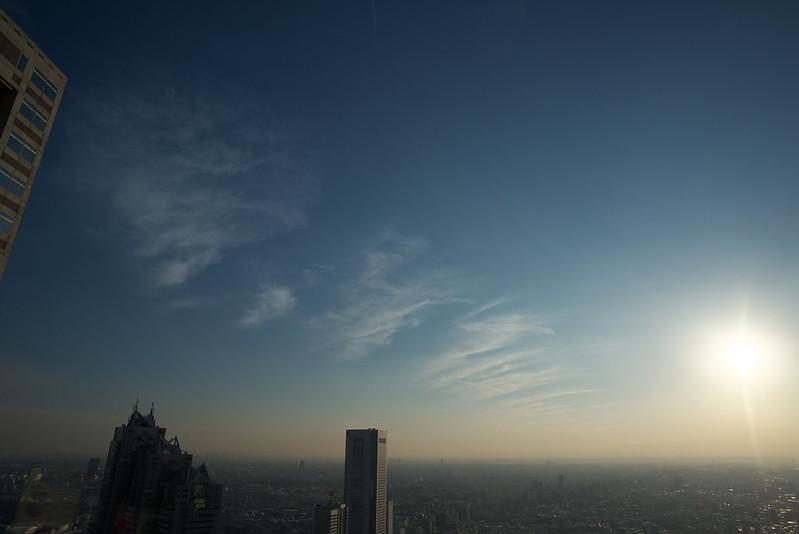 東京都庁展望室からの眺め