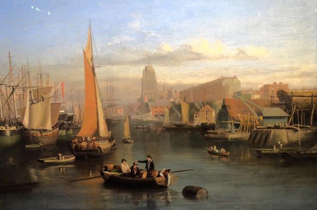 Le port sur une peinture exposée au M-Shed.