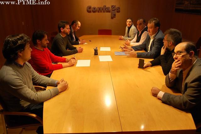 Encuentro del Comité Ejecutivo de CONFAES con los ediles de Ciudadanos, Alejandro González y Fernando Castaño.