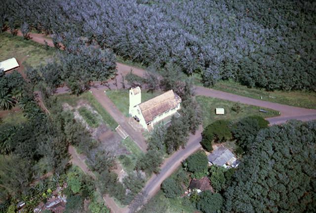 Aerial view of Quan Loi Church, 1967 - NHÀ THỜ QUẢN LỢI, không còn gì nữa sau Mùa hè đỏ lửa 1972