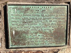 Photo of Eddie Heron bronze plaque