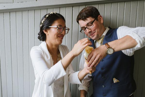 Celine Kim Photography KM Intimate restaurant Cluny Bistro Distillery District Toronto summer wedding-15