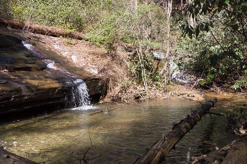 Carrick Creek tributary waterfall - 1