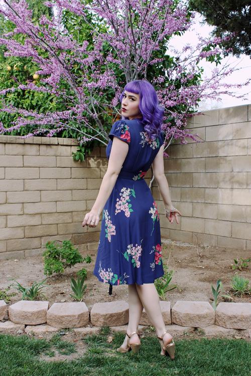 Trashy Diva Ashley Dress in Crimson Clover Print