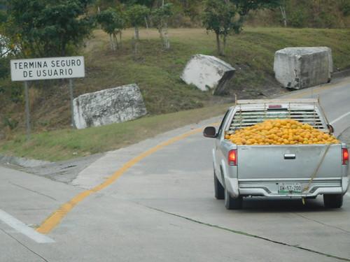 road travel orange fruit mexico driving oranges travelogue