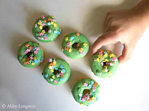 Mini St. Patrick's Day Donuts