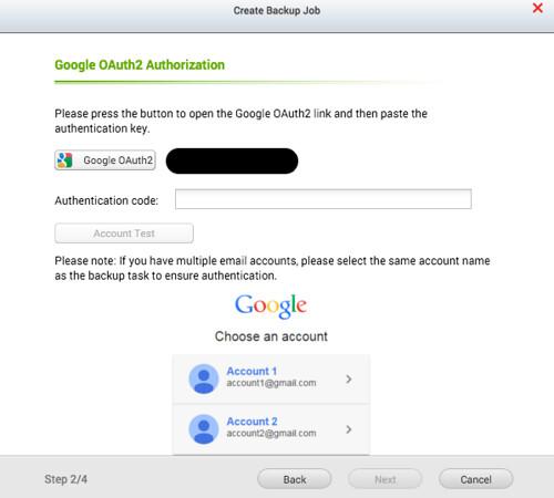 จากนั้นก็คลิกที่ Google OAuth2 เพื่อให้แอปมีสิทธิเข้าถึงข้อมูล
