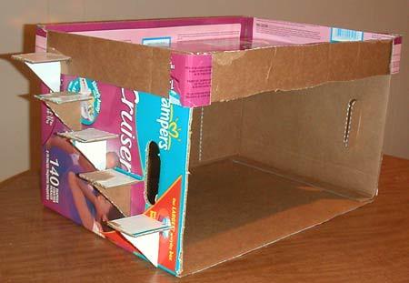 How to: No Sew Fleece Cube / Box Shelf 25698139883_b66631492a