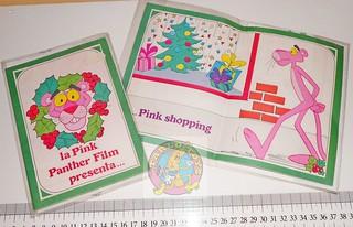 PANTERA ROSA - PINK PANTHER 80s italy greeting card - biglietto auguri