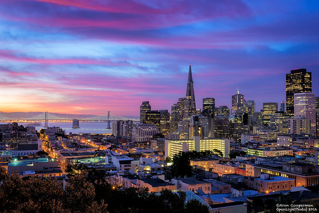 Baby Blue Hour Over San Francisco