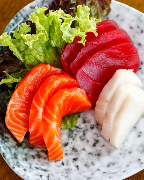 Ichiban the Izakaya Salmon Tuna White Tuna Sashimi