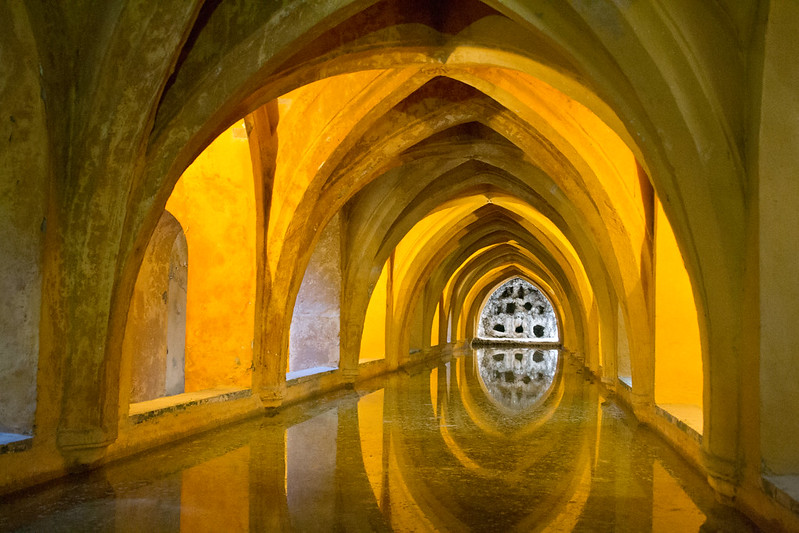 Underground bath, Alcazar of Seville, Spain | packmeto.com