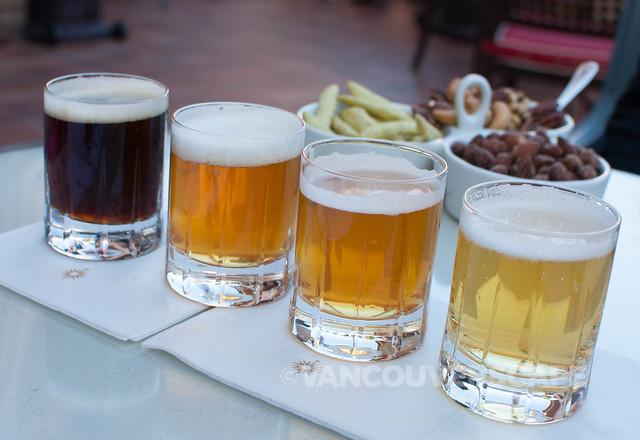 St. Bernardus Prior 8, Ballast Point Sculpin IPA, Lost Abbey Belgian Ale, Weihenstphaner Pilsner