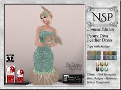 NSP Peony Vintage Feather Ensemble - Limited Edition