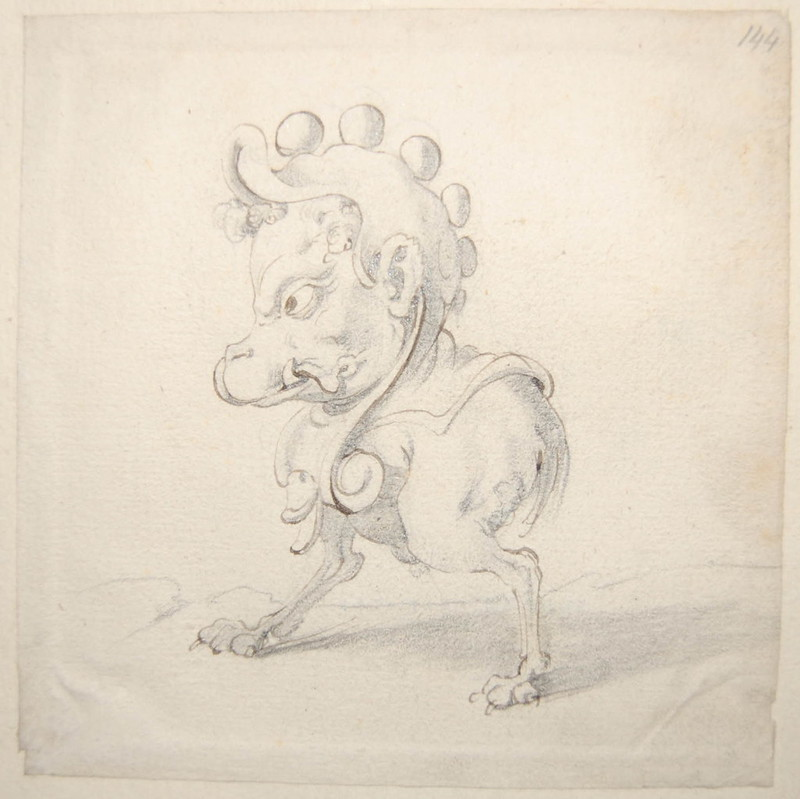 Arent van Bolten - Monster 144, from collection of 425 drawings, 1588-1633