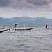 The art of fishing and one leg paddling at Inle lake by B℮n