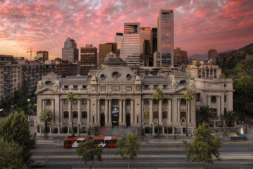 chile road city santiago sunset building bus skyline architecture photoshop canon outdoor library engineering wideangle structure f28 ef hdr chilean artie 1813 1635mm 3xp avenidalibertador photomatix cs6 tonemapping tonemap bibliotecanacionaldechile 5dmarkiii 5dm3 nationallibraryofchile generalbernardoohiggins