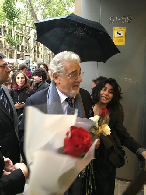 Placido Domingo's arrival at Liceu