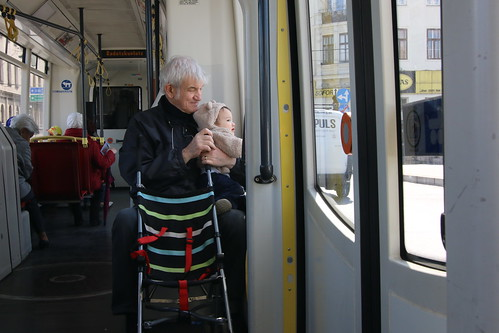Granddad & Keiki ride the D tram