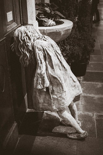 Weeping girl by Laura Ford