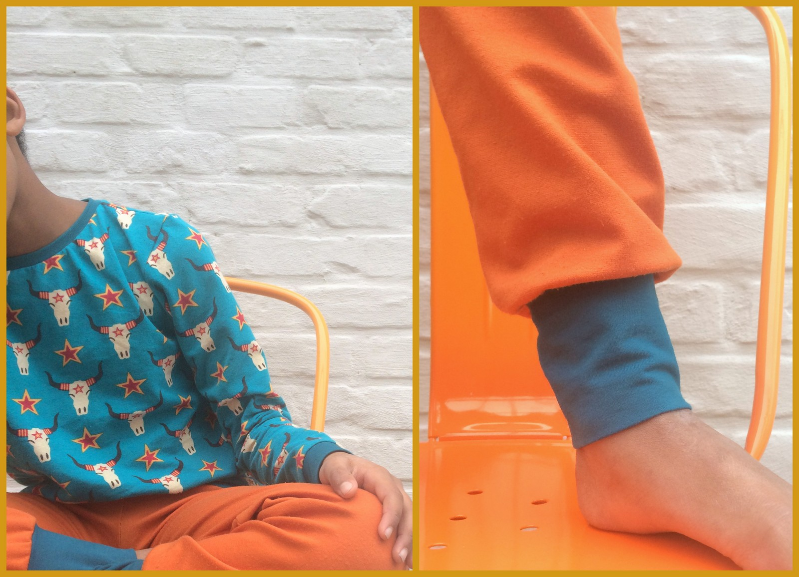 lillestof pyjama (collage) - losse broek SVDHZ2
