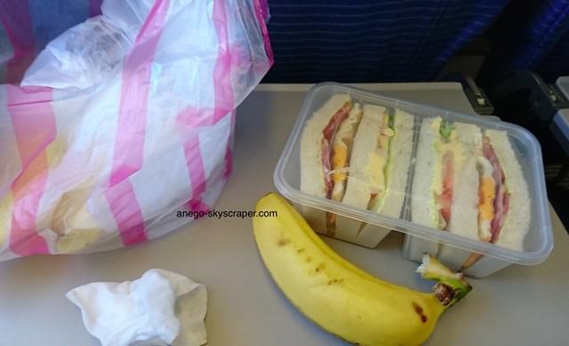 ANA 持ち込んだ朝食