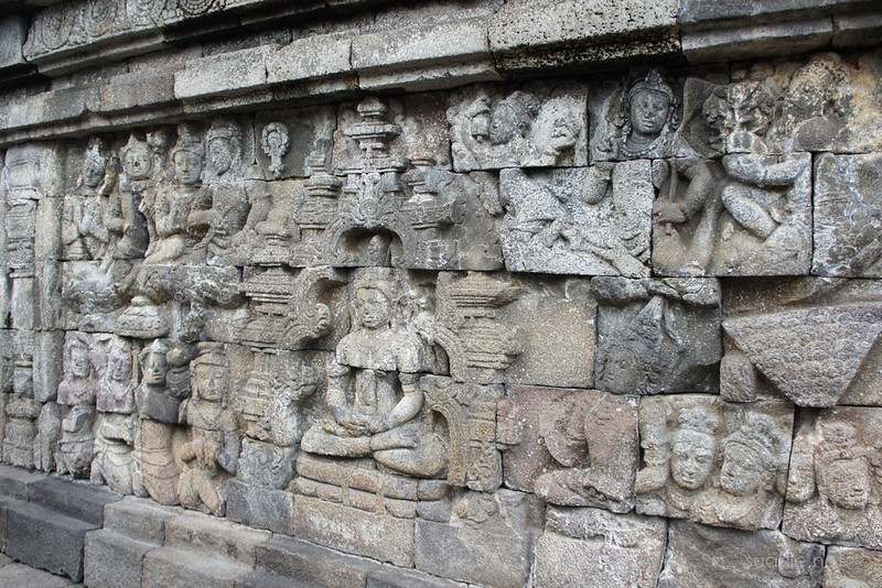 Borobudur, Yogyakarta - wall carvings