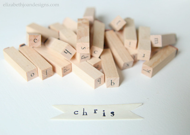 Small Alphabet Letter Stamps