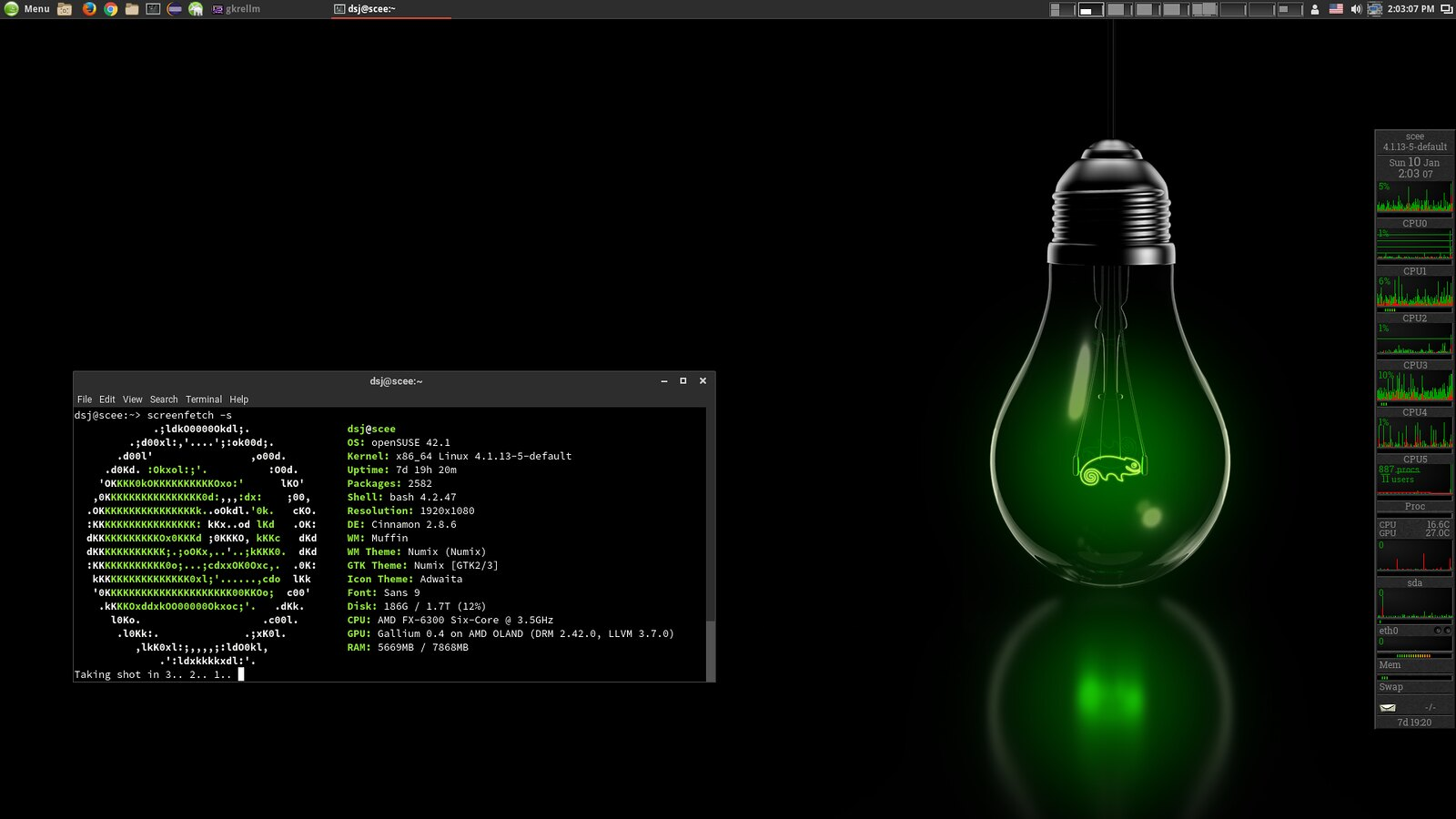 OpenSuse 42.1 Screenshot