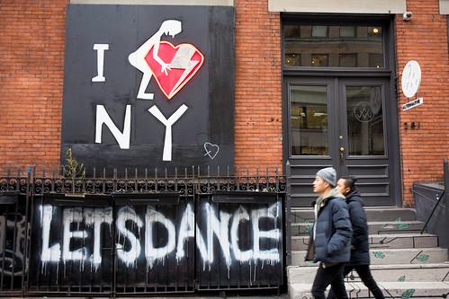 David Bowie Sidewalk Memorial NYC