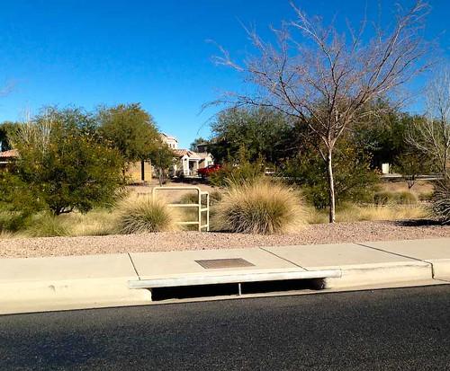 street arizona usa infrastructure gutter sewer runoff maricopa