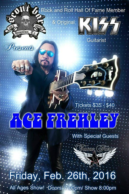 02/26/16 Ace Frehley/ Tame Fury @ Scot Bar, Houston, TX