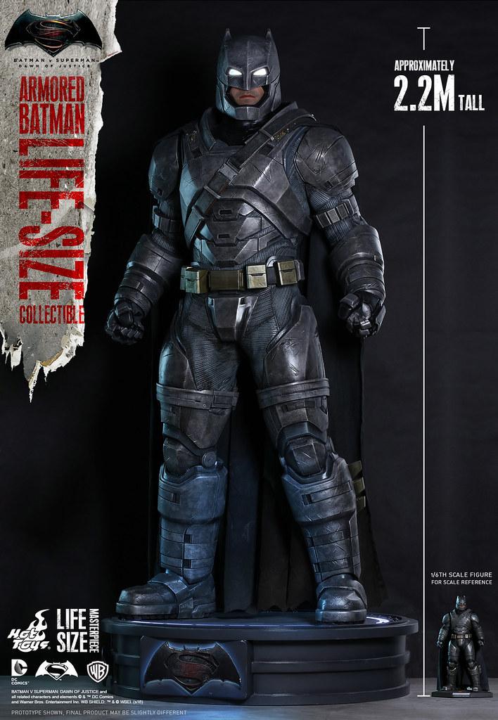 Hot Toys – LMS001 – 蝙蝠俠對超人:正義曙光【1:1 重裝蝙蝠俠】Armored Batman 真人比例作品