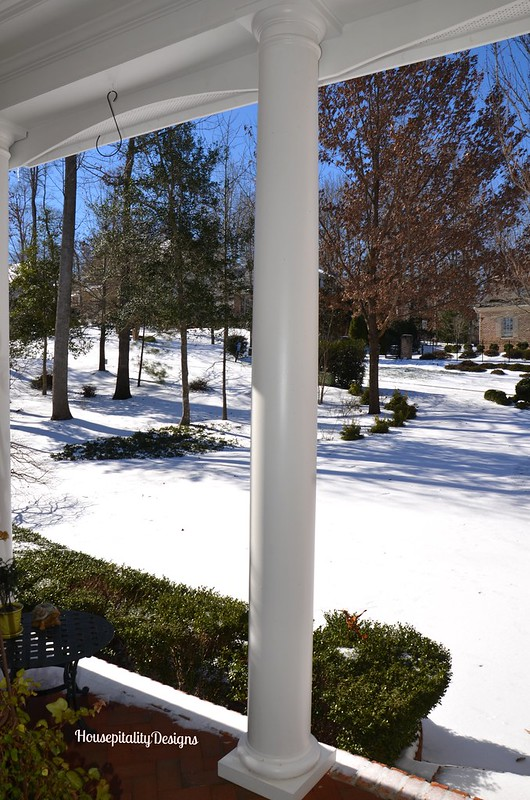 Front Yard after Winter Storm - Housepitality Designs