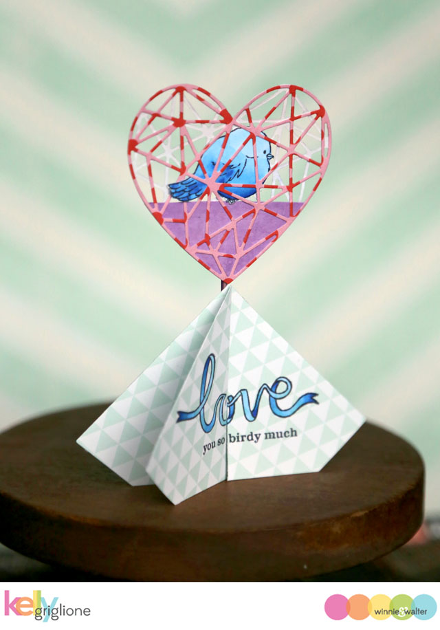 kelly_FRI So Tweet Multifaceted Heart Multifaceted Diamond 3D   Card Winnie Walter_web