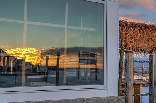 winter sunset sky reflection beach window clouds reflections geotagged evening nikon unitedstates connecticut hdr oldlyme oudoors hww nikond5300